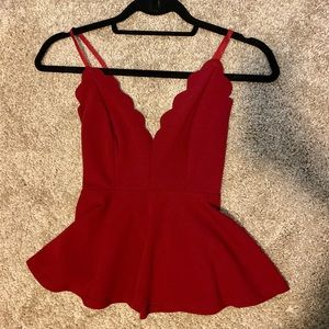 Heart shaped red top XS